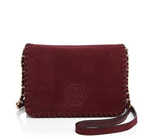 0e615c1e5c4c Tory Burch Marion Suede Combo Crossbody Style409320817  handbag   shoulderbag  Port  ToryBurch