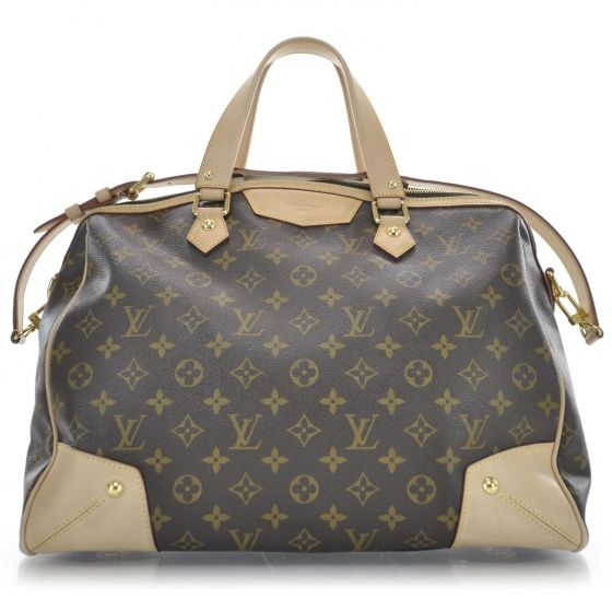 2143c2c24a0d This is an authentic LOUIS VUITTON Monogram Retiro GM Bag. The  sophisticated features and refined quality of this Louis Vuitton tote lend  a look of casual ...