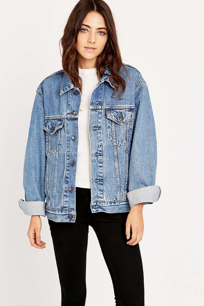 urban renewal vintage originals veste en jean levi 39 s ann es 90 bleue urban outfitters. Black Bedroom Furniture Sets. Home Design Ideas