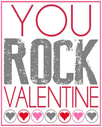 graphic regarding You Rock Valentine Printable identify Oneself Rock Valentines Present Vacation Joy! Valentine