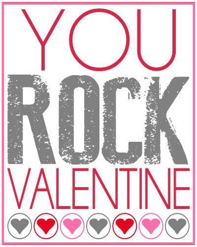 photograph regarding You Rock Valentine Printable identified as Your self Rock Valentines Reward Vacation Pleasure! Valentine