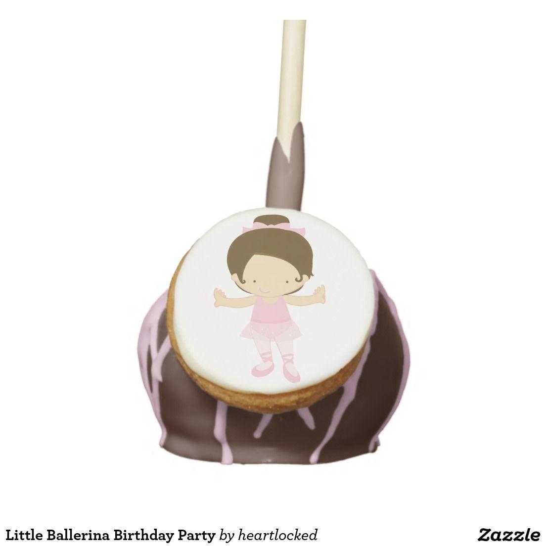 Little Ballerina Birthday Party Cake Pops
