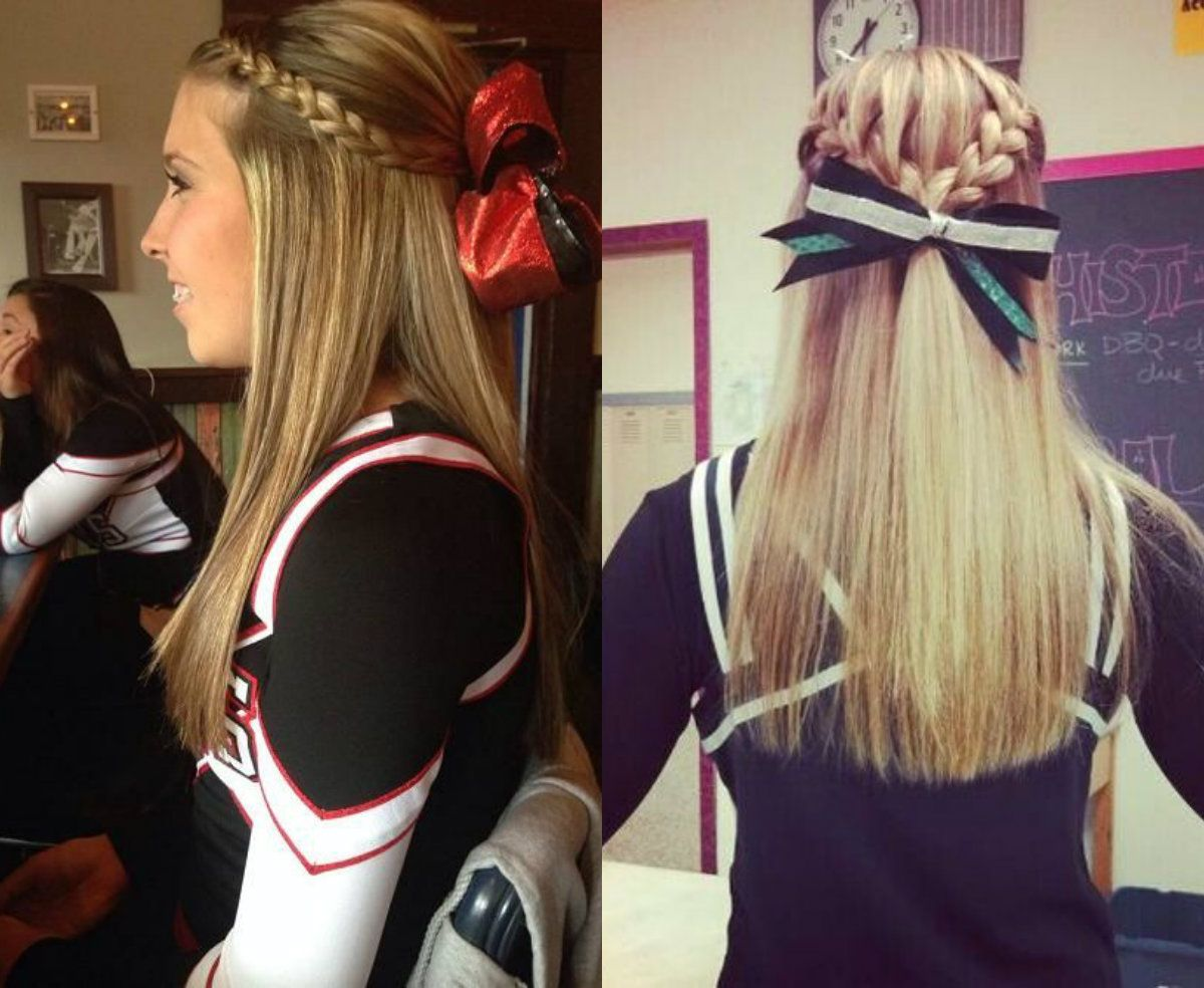 Absolutely Cute Cheer Hairstyles Any Cheerleader Will Love Hairstyles Haircuts And Hair Colors On Cheerleading Hairstyles Cute Cheer Hairstyles Hair Styles