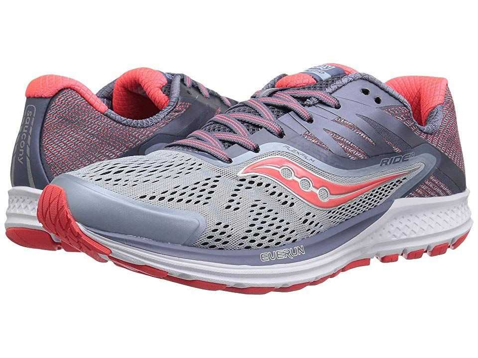 d0cb4764 Saucony Ride 10 (Fog/Vizi Red) Women's Running Shoes. Hit the road ...