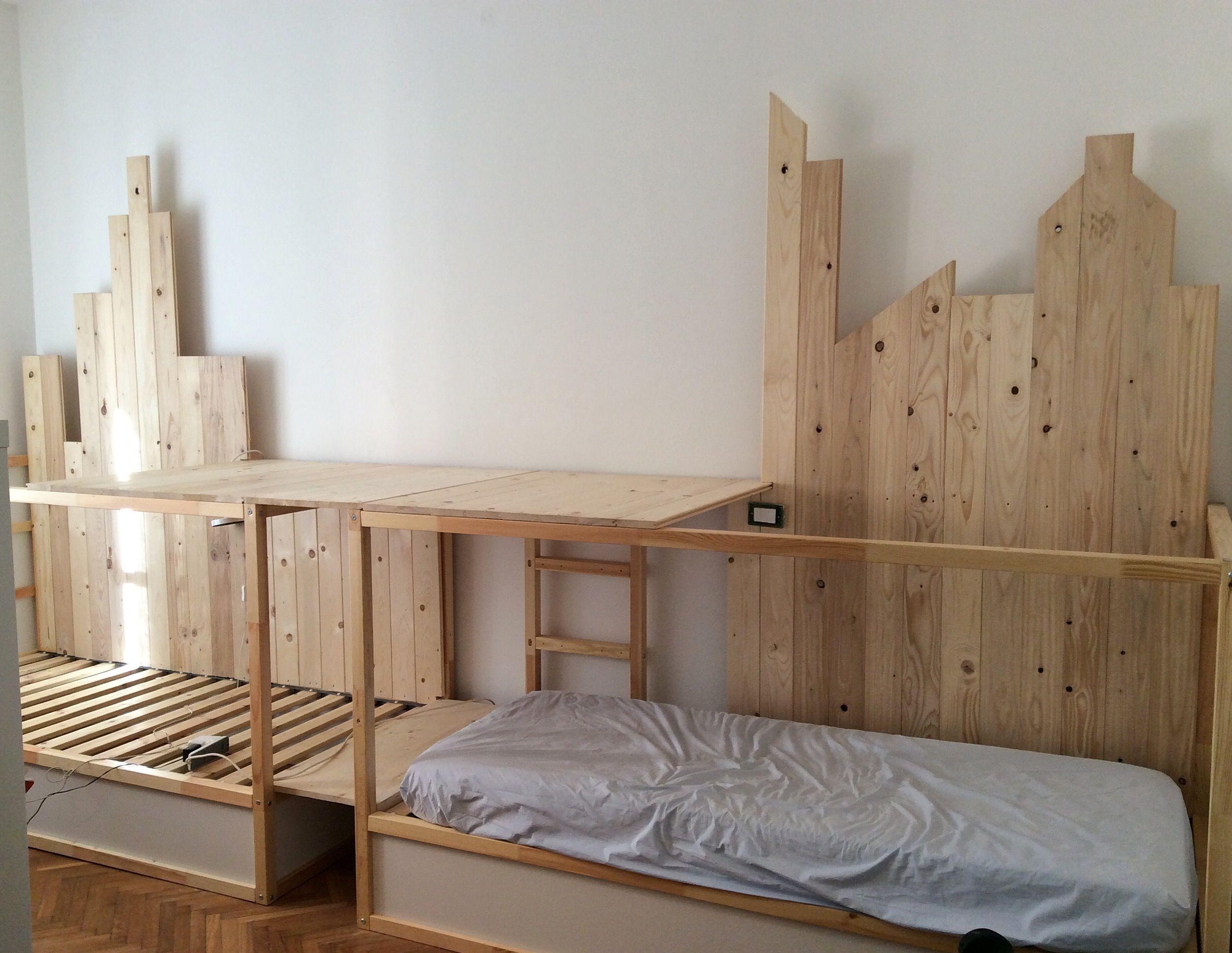 IKEA KURA HACK - triple bunk bed   Letto a castello triplo ...