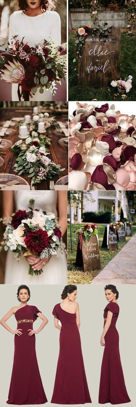 Hochzeit Winter Blumen Farbpaletten 27 Ideen für 2019 #kleider nhen   – Kleider…
