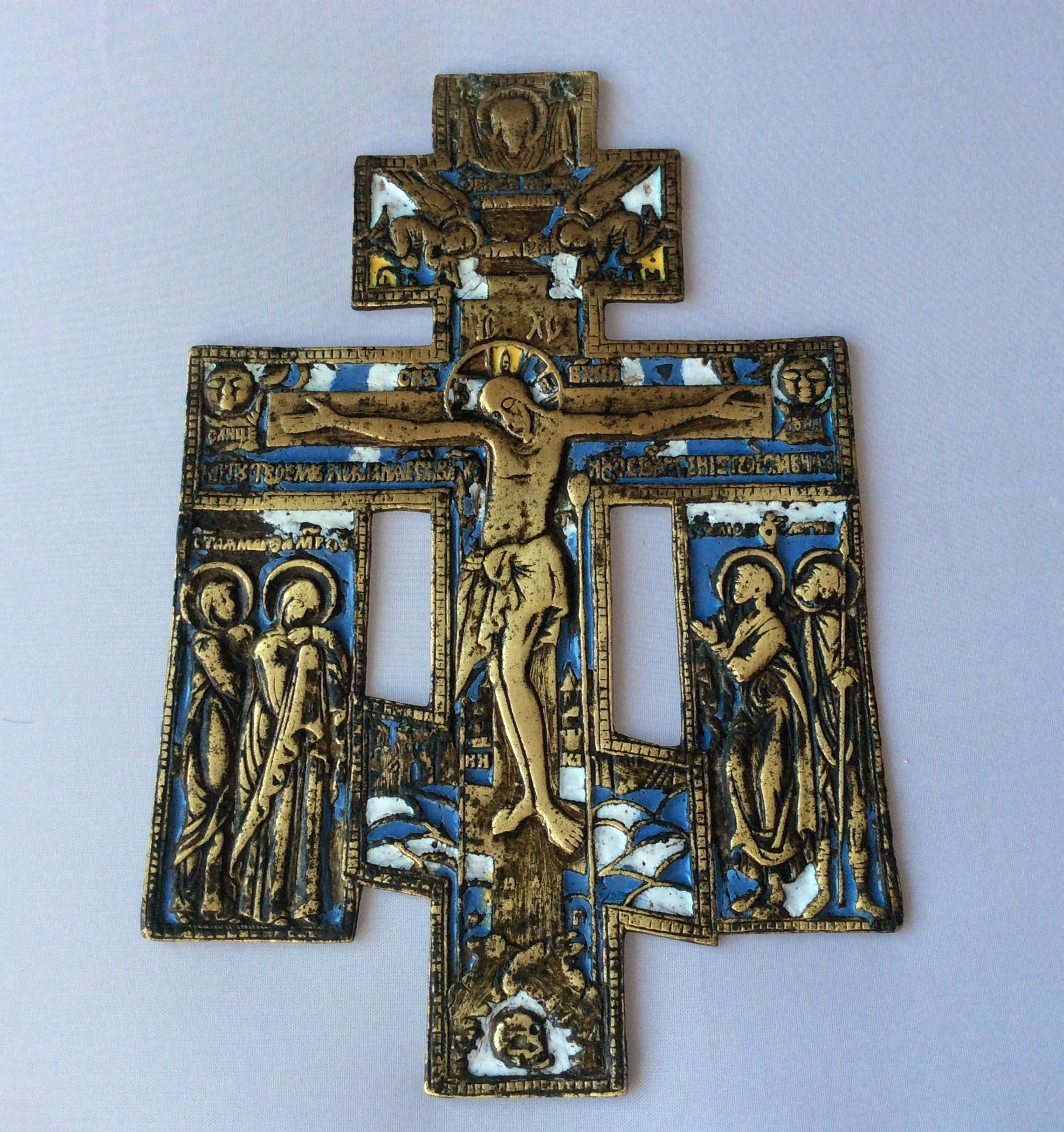 Unadulterated Wearable bronze crosses 1 with enamel in the