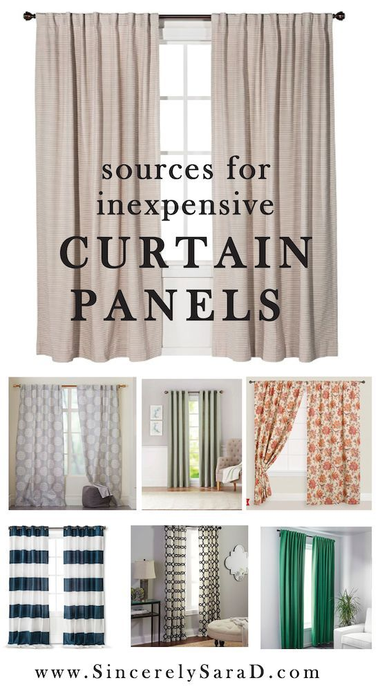 Spring Cleaning & Window Treatments | Inexpensive curtains, Wall ...