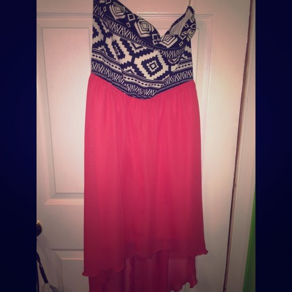 Strapless High-Low dress This is such a pretty dress, but it's not my style. Worn once. BONGO Dresses High Low