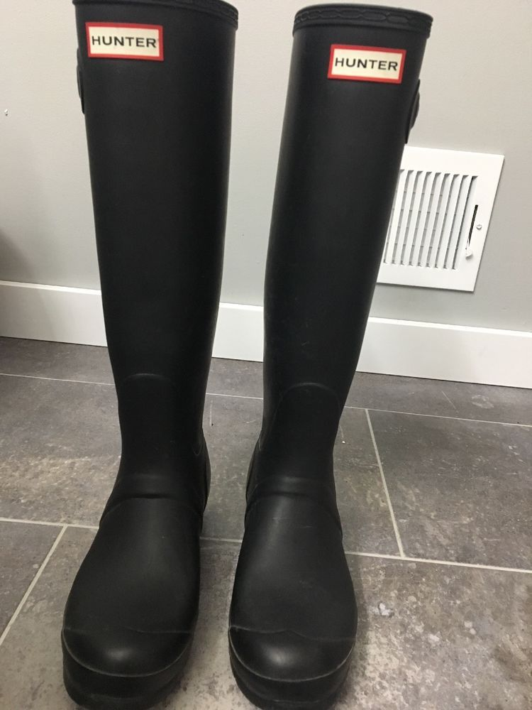 5814391bb4a black tall hunter boots size 8 #fashion #clothing #shoes ...