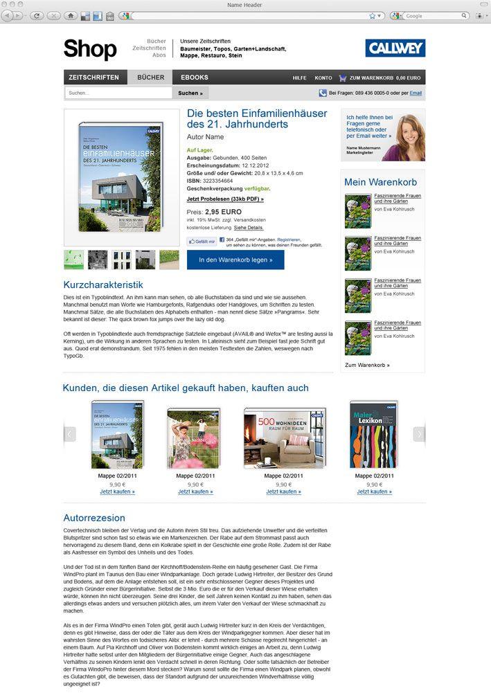 Callwey Verlag Webdesign Shop Magento Web Design Webdesign Callwey Verlag