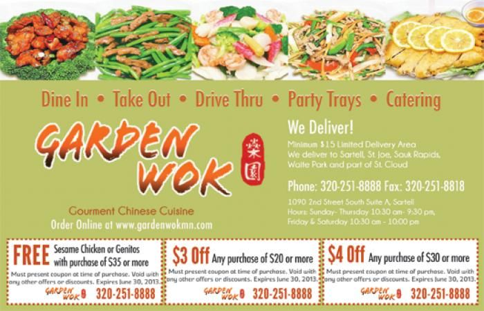 4 Off Garden Wok Chinese Cuisine Party Trays Wok