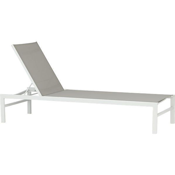 CB2 idle grey outdoor chaise lounge X4 26.5