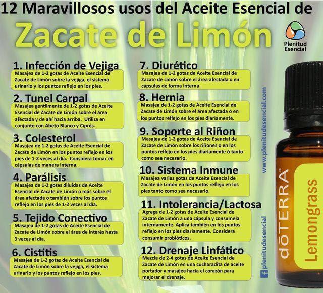Zacate Limon Aceites Esenciales Doterra Recetas De Aceites