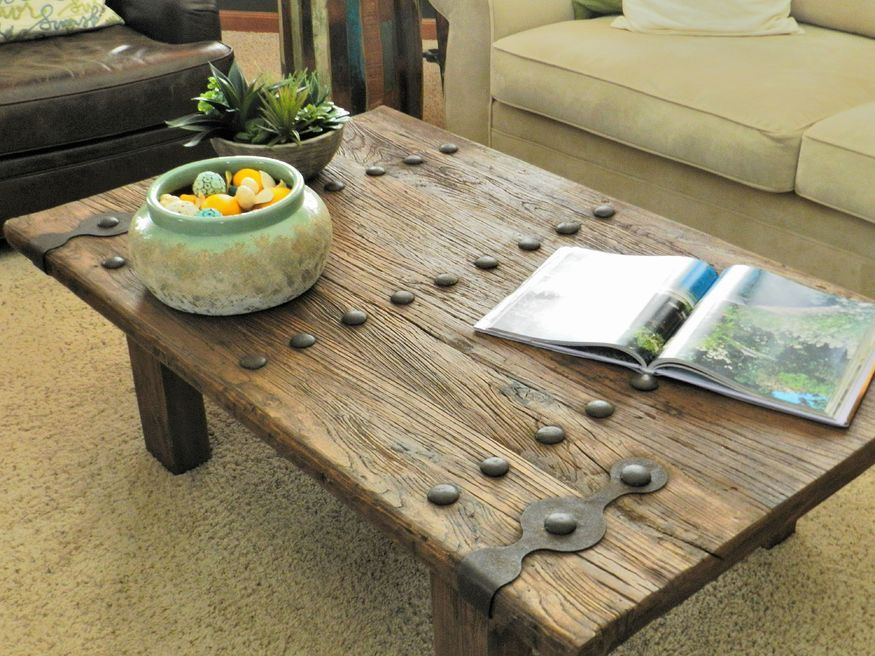 Rustic Coffee Table You Can Put Your Feet On And Still Have Room For Books.