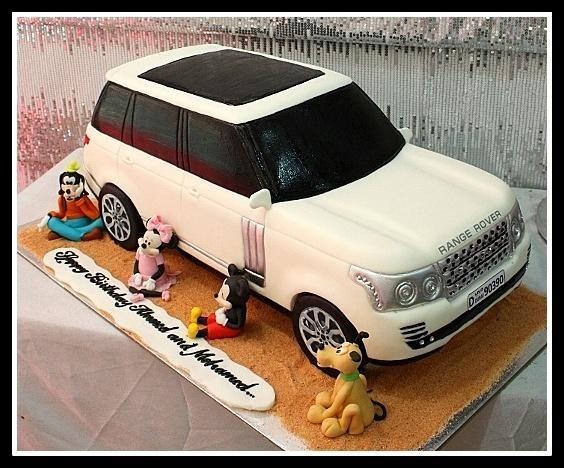 Voiture Modèle gâteau d/'anniversaire LAND ROVER FIRE APPLIANCE