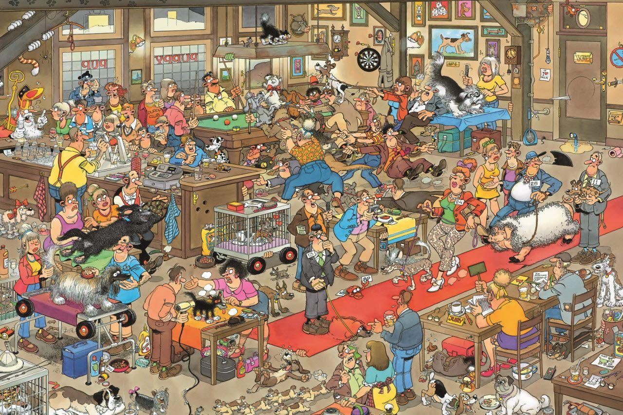 Illustrations Jan Van Haasteren Hondenshow Legpuzzels Puzzel