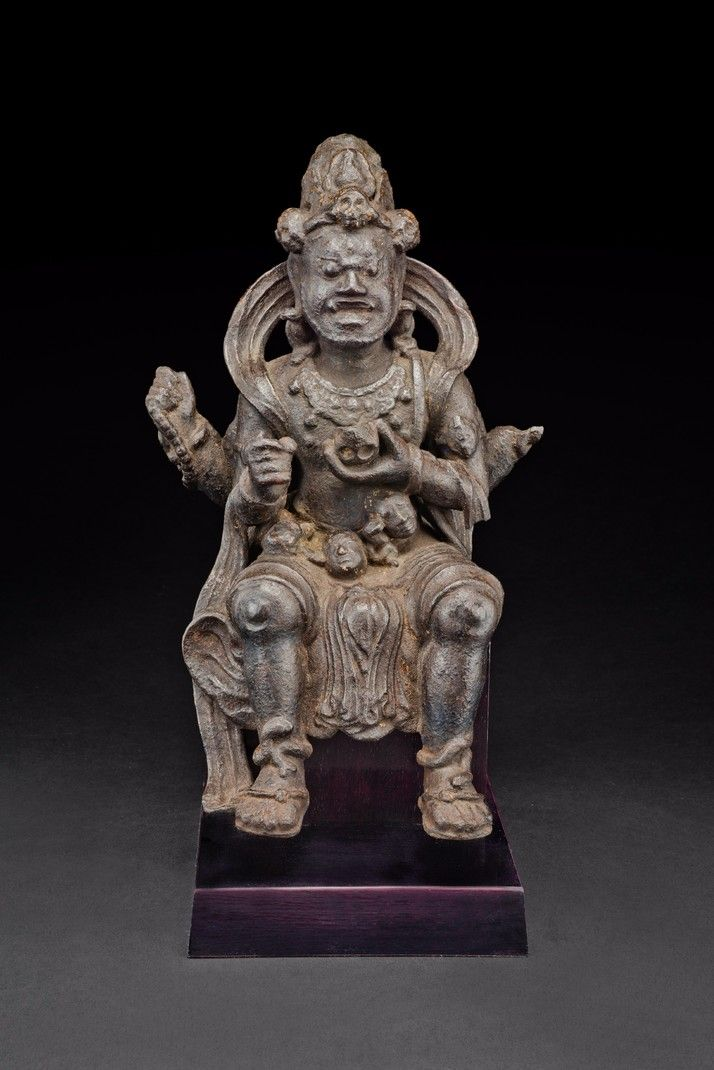 Mahakala (Buddhist Protector) - Chaturbhuja (Four-hands) (Himalayan Art)