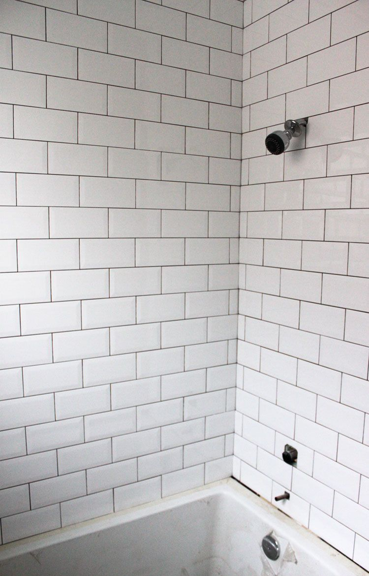 Showertile3 lakehouse pinterest subway tile for Subway tile designs