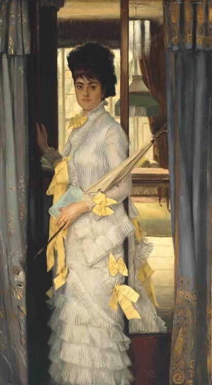 James Tissot, 'Retrato' 1876 ~Repinned Via Ana Beatriz S.