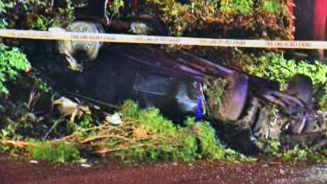 A teen died and three were injured in an auto crash Friday morning.