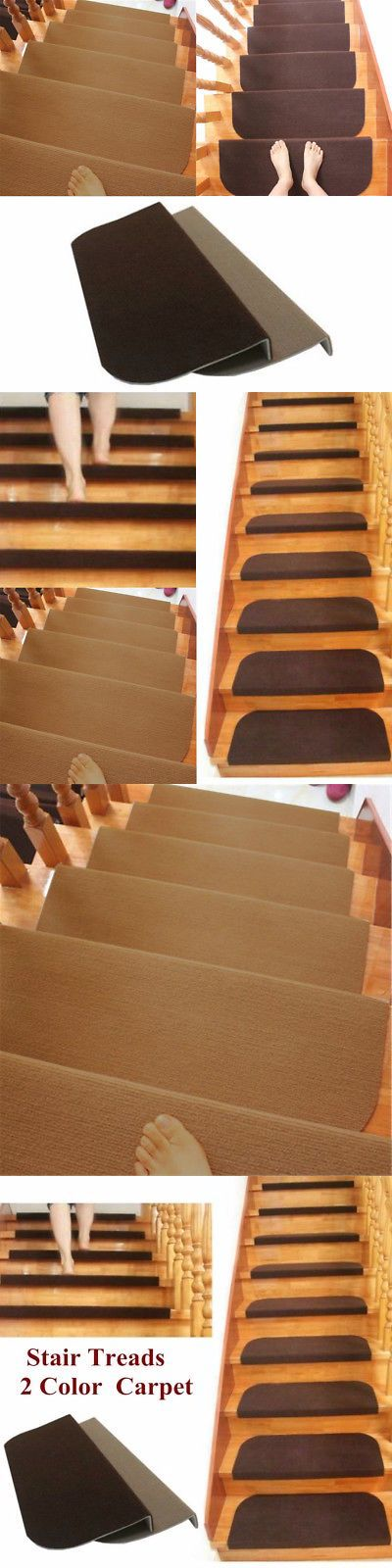 Best Stair Treads 175517 1 4 8Pcs Non Slip Adhesive Carpet 400 x 300