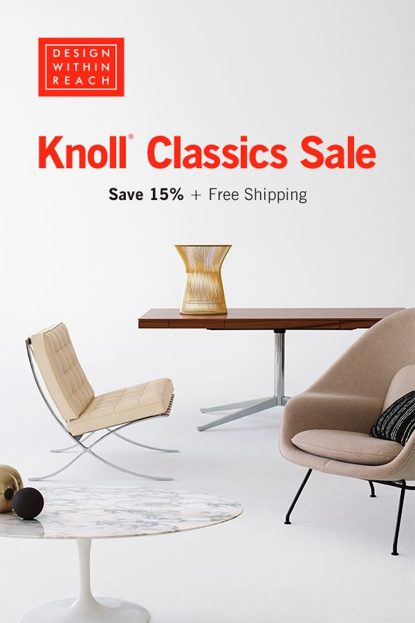 Knoll Classics Sale At Design Within Reach Save 15 Free Shipping