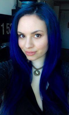 Bright Blue Hair Dark Color Colors Splat