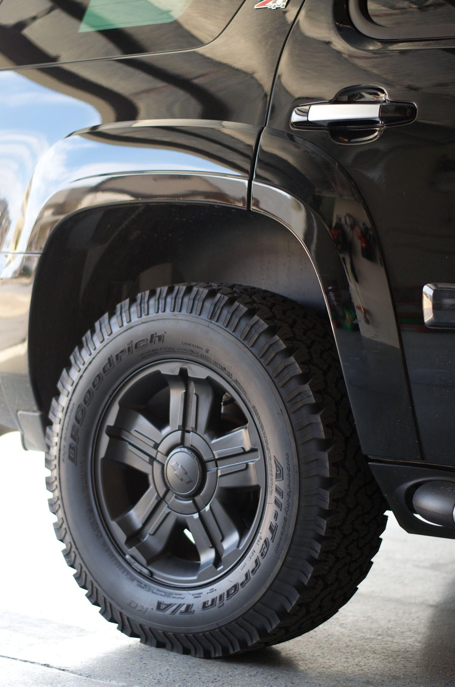 Plasti Dip factory Z71 Tahoe Wheels. The Blackout has ...