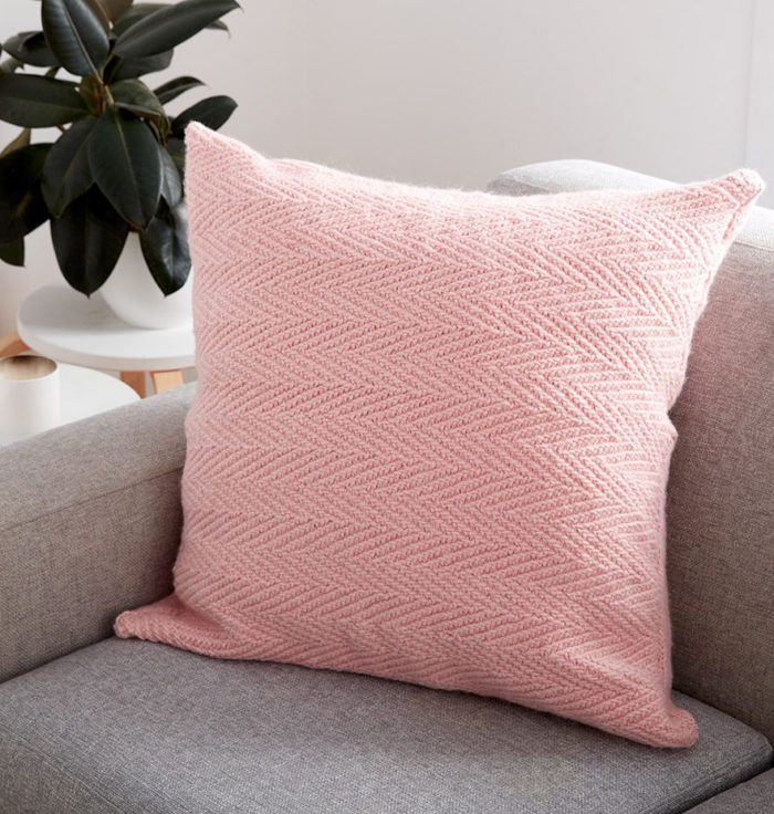 Free Knitting Pattern For Herringbone Pillow Easy Pillow With A