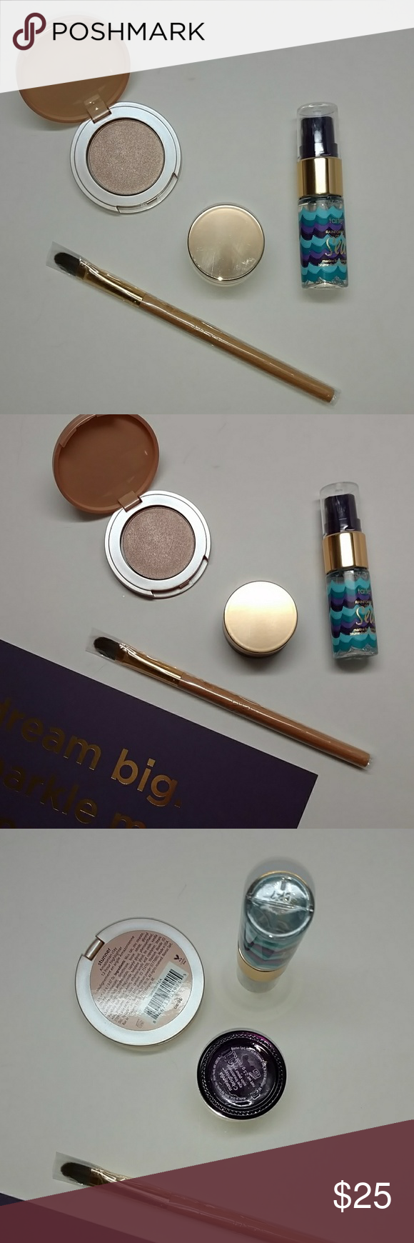 Tarte bundle Tarte bundle includes highlighter color stunner, eyeshadow brush, maracuja C brighter eye treatment and marine boosting face mist. All new never used Sephora Makeup