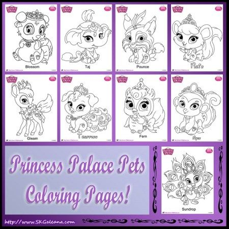 where do princess palace pets go to relax and recuperate after a hard day of work and play take a peek into the world of whisker have for a few minutes and - Princess Palace Pets Coloring Pages