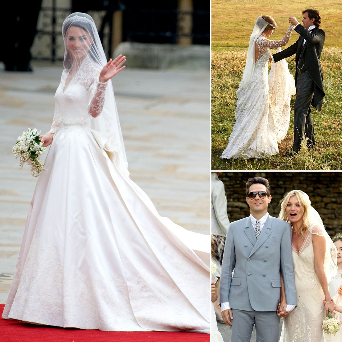 Who Did the Dress? 14 Celebrity Wedding Gowns — and the Designers ...