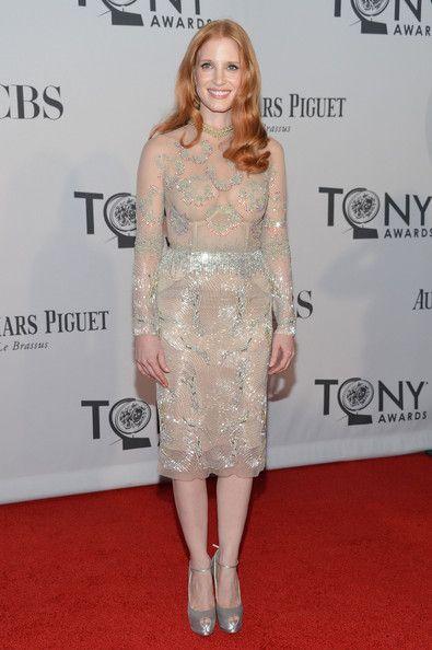 Jessica Chastain in Marios Schwab - 2012 Tony Awards