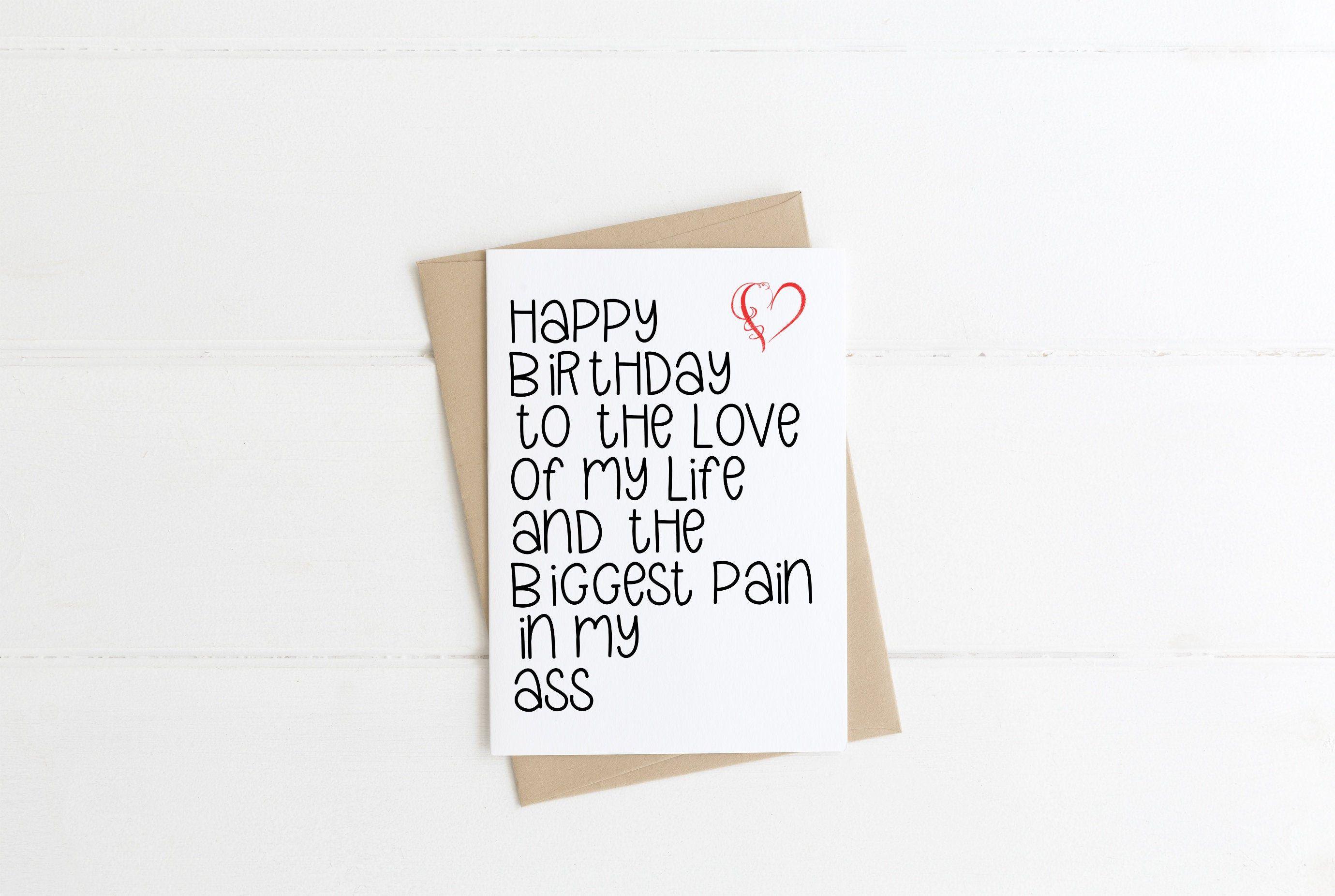 Funny birthday Card for him husband boyfriend Happy