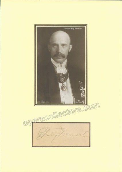 Burmester, Willy - Signature & Photo