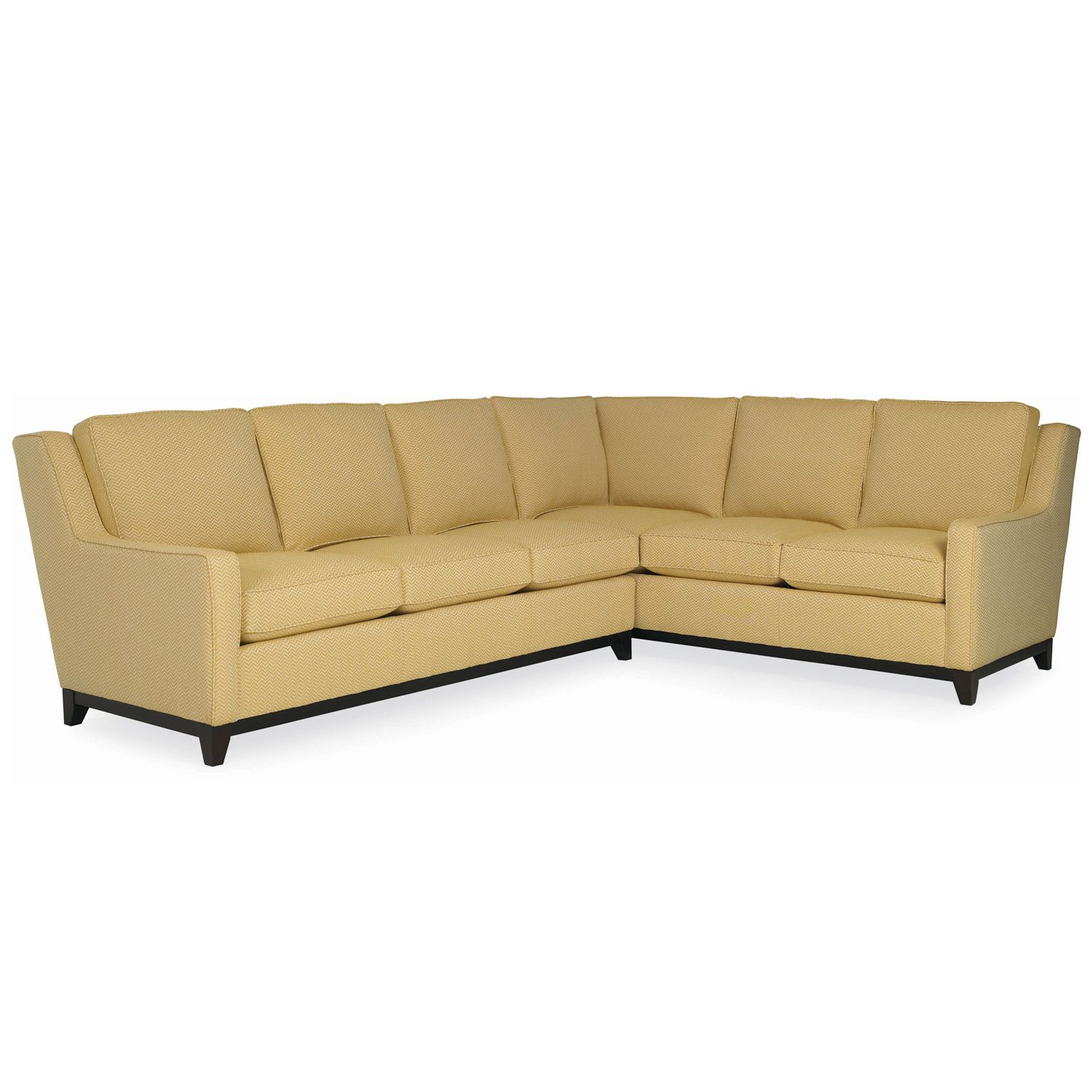 The carter sectional revisits mid century minimalism and updates it for modern entertaining needs plush square cushions invite for comfort seating and can