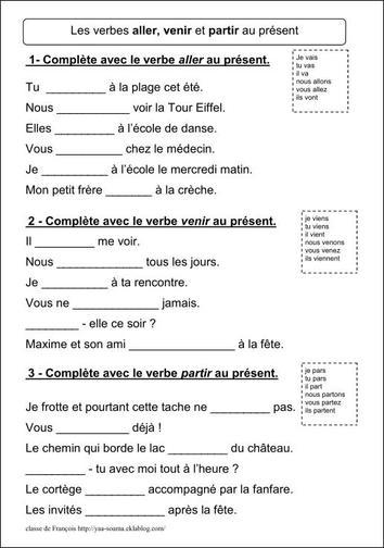 Czasowniki - powtórka - ćwiczenie 2 - Francuski przy kawie