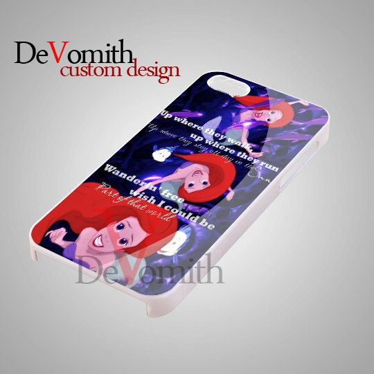 Disney Ariel Mermaid Quote - iPhone 4/4s/5 Case - Samsung Galaxy S3/S4 Case - Black or White by DeVomith on Etsy