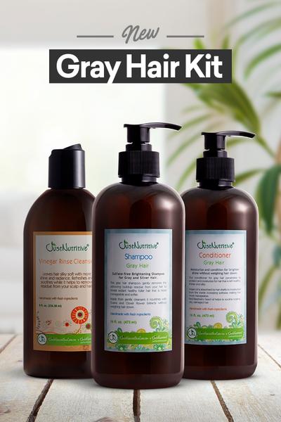 Gray Hair Kit Just Nutritive Hair kit, Shampoo for