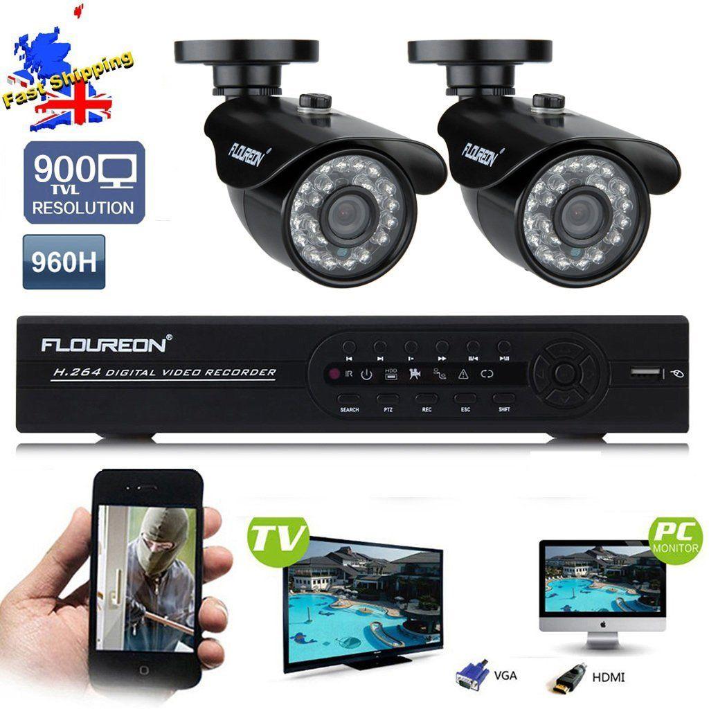 FLOUREON 4CH Full 960H Realtime CCTV DVR Video Surveillance