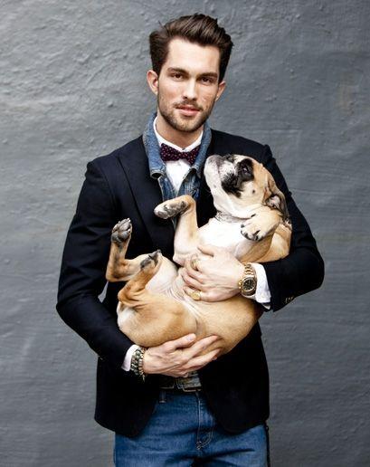 Very cute guy with very cute bully :) #english #bulldog #englishbulldog #breed #dogs #pets #animals #bulldogs #best #dog #canine #pooch #cute #bully #guys