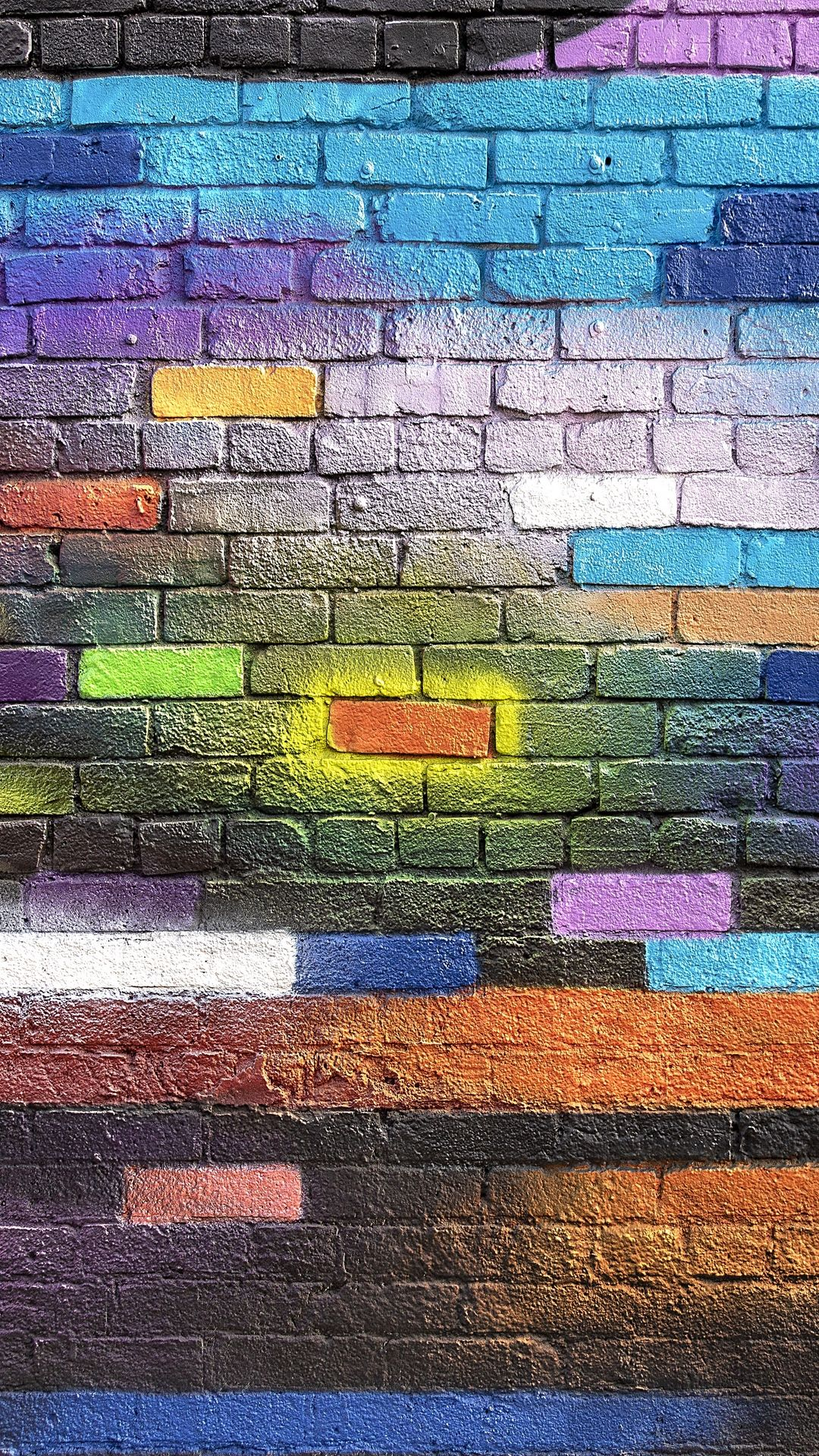 Brick Test1 Wall Colorful Textures Wallpaper