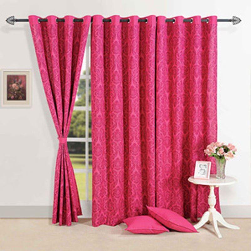 window curtains   Pink Magnificience Window Curtains Home Furnishing  IndianGiftBazaar. window curtains   Pink Magnificience Window Curtains Home