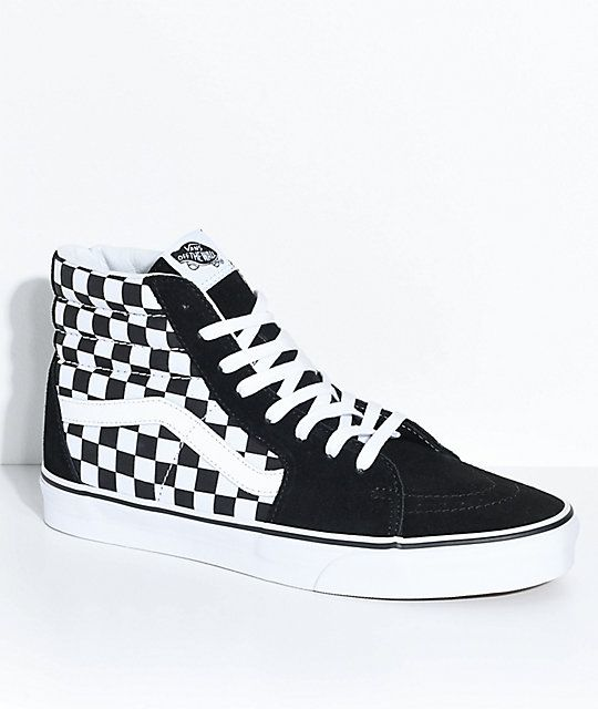 d3a936c9f4 Van's 💥new high top sneakers. Vans Sk8-Hi Black & White Checkered Skate  Shoes