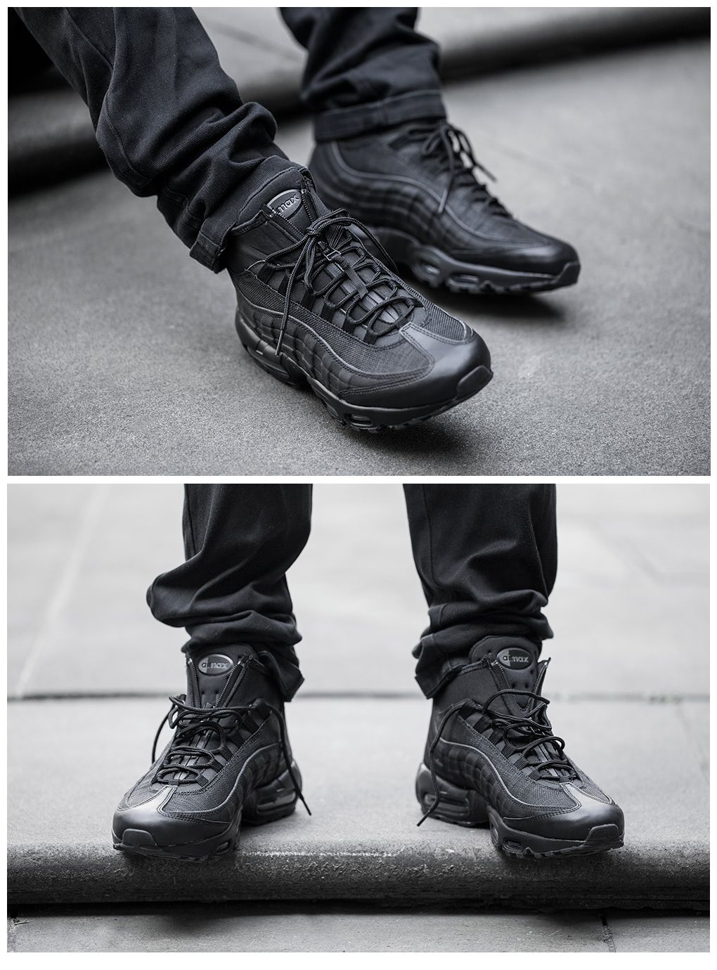 hot sale online c5ecd 998f5 Nike Air Max 95 Sneakerboot  Blackout