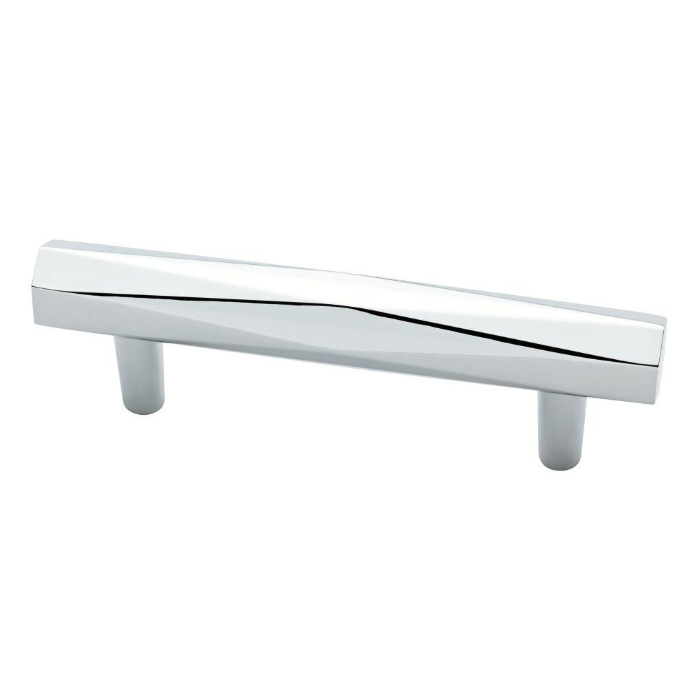 Modern Chrome Cabinet Pulls Liberty Modern Geometric 3 In 76 Mm Satin Nickel Cabinet Pull