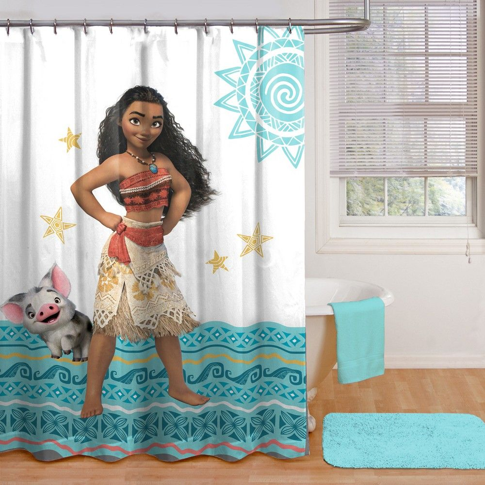 Disney Moana Shower Curtain Blue Disney Bathroom Shower Curtain Decor Moana