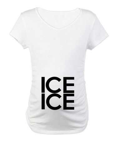 Grappige Zwangerschapskleding.Take A Look At This White Ice Ice Maternity Tee Women By