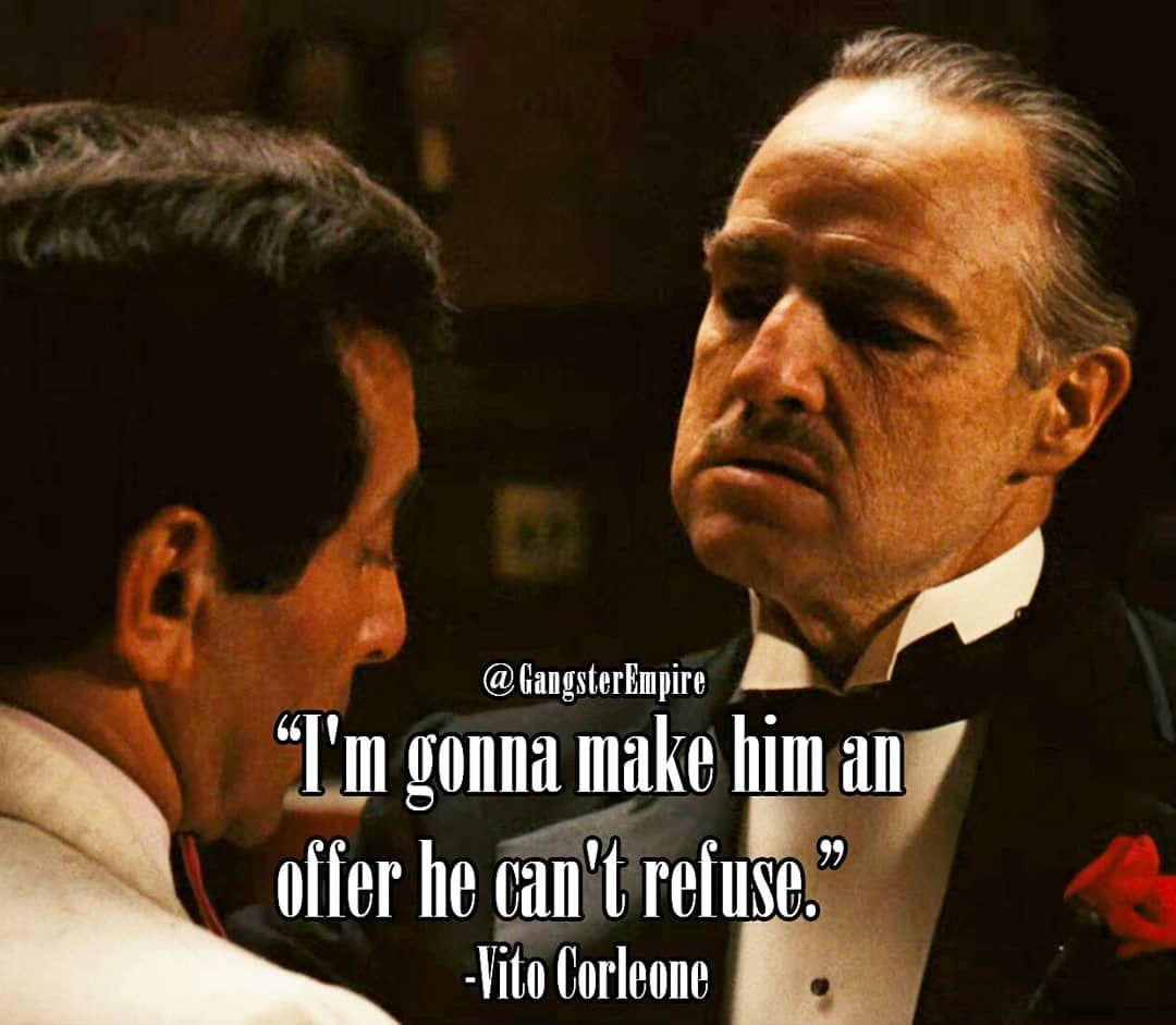 Don Vito Corleone Johnny Fontane In The Godfather Marlonbrando Francisfordco Godfather Quotes Vito Corleone Quotes Best Movie Quotes